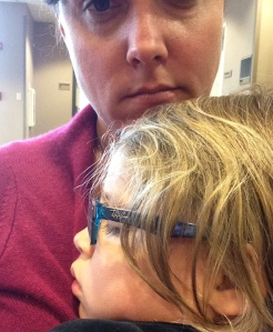 Earlier that afternoon, Paige had an appointment at the opthamologist. They dilated her eyes (ugh), and she promptly fell asleep on my lap. I bet that doesn't happen every day with a 5 year-old. And I loved it.