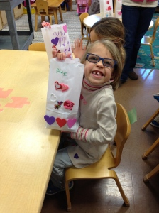 Paige's bag for her Valentine's. That smile...kills me.
